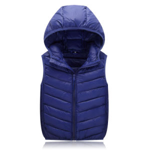 Chinese Factory Stock Lot Good Quality Cheap Mens Polyeste Down Vest Down Jacket 602
