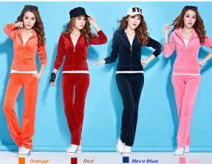 Hot Sale High Quality Velvet Suit for Women (ELTTSJ-74) pictures & photos
