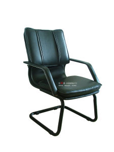 Comfortable Office Leather Chair with Armrest Without Wheels pictures & photos