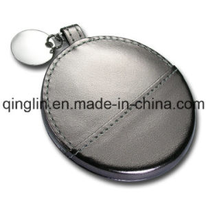 Custom Special Design Personalized Printed Leather Cover Pocket Mirror pictures & photos