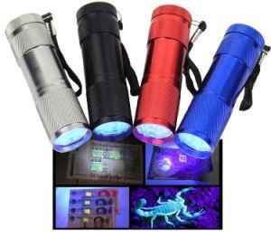 9LED Blacklight Black Light UV Flashlight pictures & photos