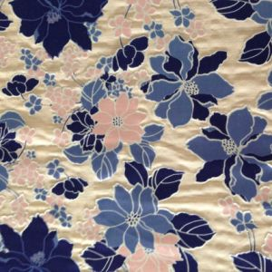 Burn out Discharge Printed Silk Opal in Floral Pattern