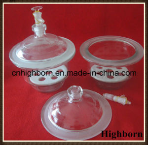 Transparent Lab Borosilicate Glass Desiccator with Porcelain Plate pictures & photos