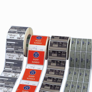Roll Waterproof Printed Chemical Medicine Adhesive Label pictures & photos