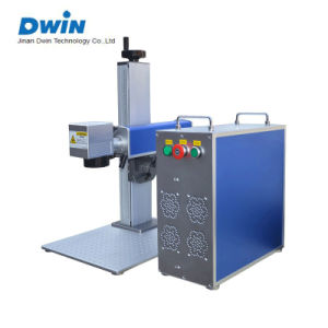 20W Animal Ear Tag/Wire Fiber Laser Color Marker/Marking Machine Price pictures & photos