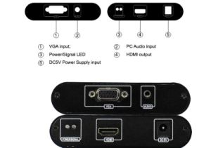 VGA to HDMI Converter up to 1080P Metal Shell pictures & photos