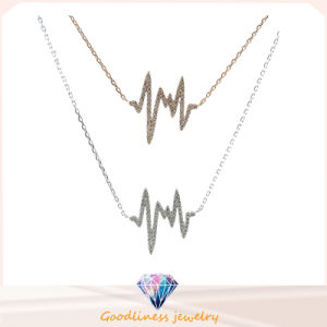 2015 Fashion Jewelry Sterling Silver Necklace Factory Price CZ Necklace (N6621) pictures & photos