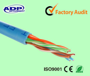 Cat5e UTP 4 Twisted LAN Cable 24AWG pictures & photos