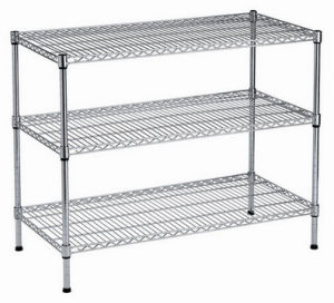 3-Tier Stainless Steel Heavy Duty Wire Rack Shelving pictures & photos
