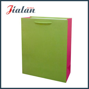 Solid Pantone Color Custom Cheap Paper Gift Bag with Hangtags pictures & photos