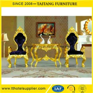 Foshan Manufacturer Luxury Classic Dining King Chair Set pictures & photos