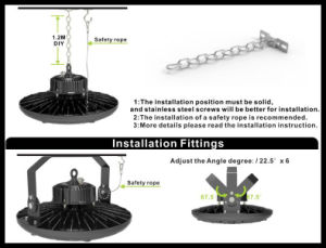 Free Samples High Lumen 100W/150W/180W LED High Bay Light in UFO Shape pictures & photos