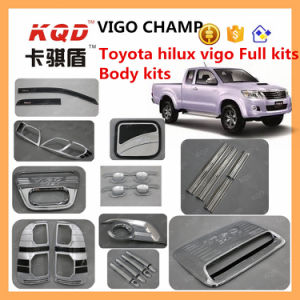 for Toyota Accessories Full Body Kit Parts Toyota Hilux Roof Rack Auto Sun Visor Hilux Fender Flares Chrome Trim Full Set Pickup Truck