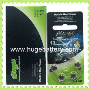 A13 1.4V Zinc Air Battery Hearing Aid Battery 6/PCS Blister Package (A13) pictures & photos