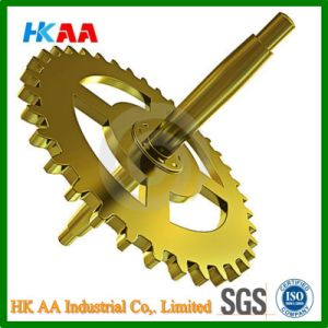 Custom High Precision Gold Plated Clock Gears pictures & photos