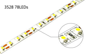 6.2W/M 78LEDs/M SMD3528 LED Strip Light pictures & photos