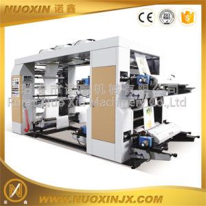 High Speed 4 Colors Plastic PE Film Roll Flexo Printing Machine pictures & photos