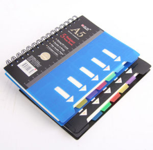 A5 Metal Spiral Subject Notebook with Divider pictures & photos