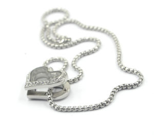 Heart Style Magnet Locket Pendant Necklace with Zirconia pictures & photos