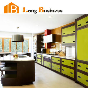 China fresh green melamine kitchen cabinets to buy online for Made to order kitchen cabinets