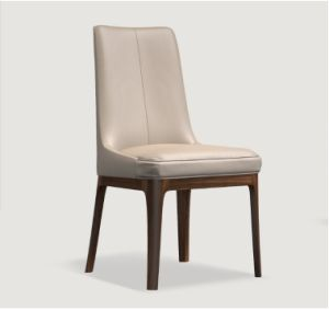 Elegant Design Wood Frame Dining Chair with PU Cushion (DC009)