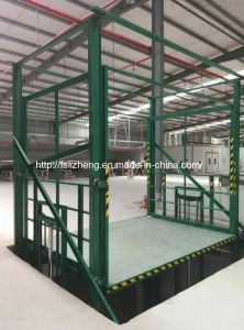 Factory Hydraulic Goods Lift/Warehouse Portable Lift Platform Electric Guide Rail Cargo Elevator (LZ-SJT)