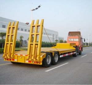 2 Axles Low Flat Bed Semi Trailer Factory/ Manufacturer pictures & photos