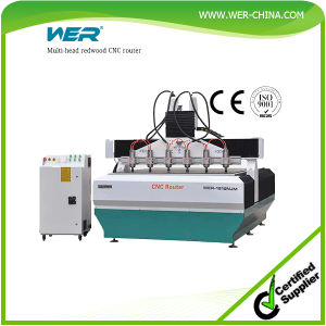 Best Selling Multi-Head Redwood CNC Router with 2.2kwx6 Water Cooling Spindle pictures & photos
