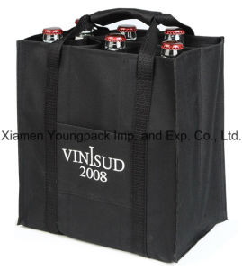 Custom Imprinted Eco-Friendly Reusable Non-Woven Cloth Wine Bottle Bag pictures & photos
