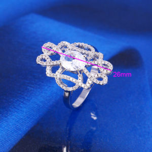 2016 Xuping Fashion Women Luxury Zircon Imitation Jewelry Ring in Copper Alloy -11914 pictures & photos
