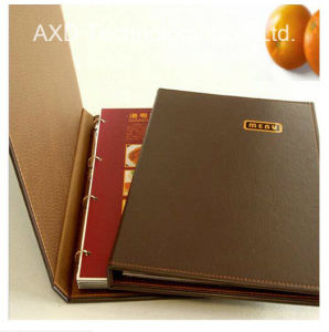 Leather Custom Fashion Hotel Menu Cover for Hotel Using.