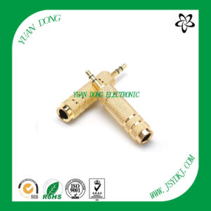 3.5 Male to 6.35 Female Connector Stereo Mono RCA Plug 1/4′′ Microwave Guitar Cable Connector pictures & photos