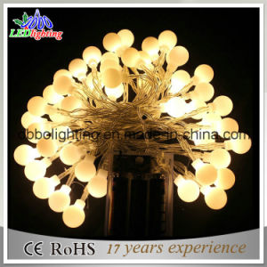 Fairy Party Xmas Outdoor 17mm 23mm 40mm Waterproof Warm White LED Ball String Light pictures & photos