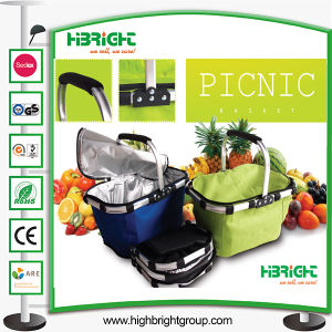 Foldable Farbic Picnic Basket Shopping Basket pictures & photos