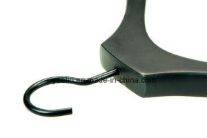 Yeelin Custom Logo Black Color Wooden Coat Hanger for Display (YLWD-c7) pictures & photos