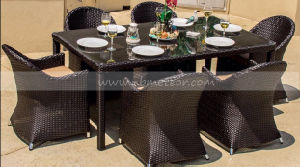 Mtc-236 Outdoor Patio Furniture Dining Set 6 Seater Rattan Furniture Garden Set pictures & photos