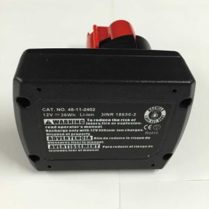 Power Tool Replacement Battery for Milwaukee M12 Xc Li-ion Battery pictures & photos