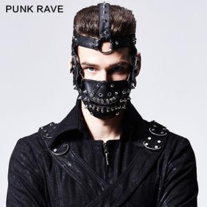 Unique Punk Rave Accessries Black Man Rivet Mask (S-158) pictures & photos