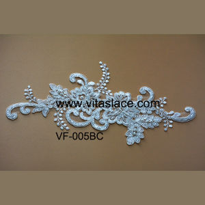 Ivory Rayon Lace Motif for Wedding Clothesvf-005bc