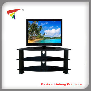 Modern Glass TV Stand with Aluminium Tubes (TV068) pictures & photos