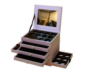 Set Make up Drawer Box with Mirror in The Lid pictures & photos
