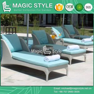 Hot Sale Lounge Leisure Lounge Chaise Lounge P. E Wicker Daybed pictures & photos