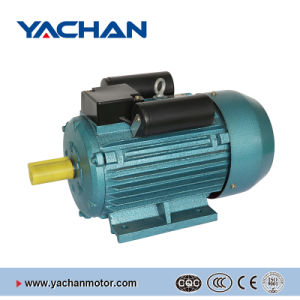 CE Approved Yl Single Phase Green Color Two-Value Capacitor Electric Motor pictures & photos