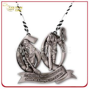 3D Sculpted Custom Figurine Antique Silver Souvenir Medal pictures & photos