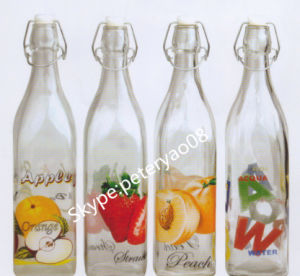 1L Glass Milk Bottle with Click Top pictures & photos