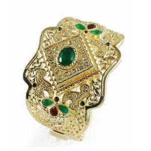Green Stone Fashion Jewelry Bangle (A04509B1W)
