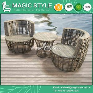 Rattan Coffee Chair Leisure Wicker Chair Patio Stool Garden Stool Cafe Set (Magic Style) pictures & photos