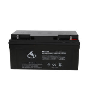 12V 65ah Power Supply VRLA Mf AGM Storage Sealed Lead Acid Rechargeable Battery pictures & photos