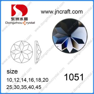 Flat Back Round Shape Glass Jewelry Beads (DZ-1051) pictures & photos