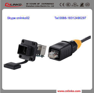 Outdoor Cat5 RJ45 Connector/IP65 Cat5e RJ45 Connector/Waterproof RJ45 Jack pictures & photos